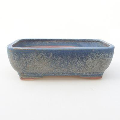 Keramische Bonsai-Schale 21 x 16 x 6,5 cm, Farbe blau - 1