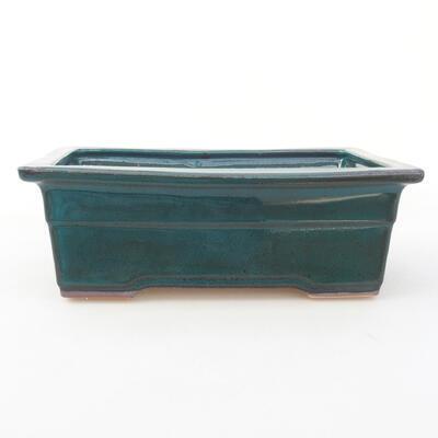 Keramische Bonsai-Schale 20 x 14,5 x 7 cm, Farbe grün - 1