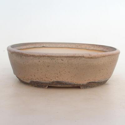 Bonsai-Schale 24 x 19 x 7,5 cm, grau-beige Farbe - 1