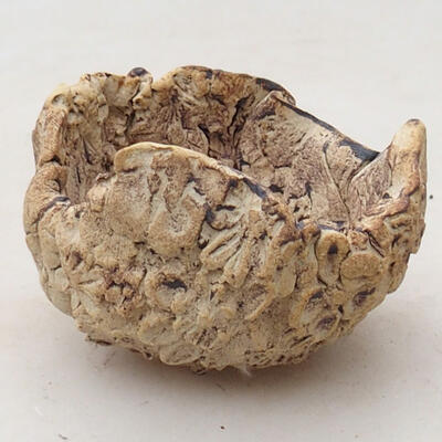 Keramikschale 5,5 x 6 x 4,5 cm, graubraun - 1