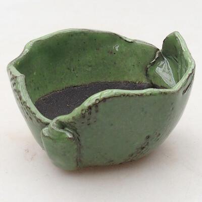 Keramikschale 7,5 x 7,5 x 5 cm, Farbe grün - 1