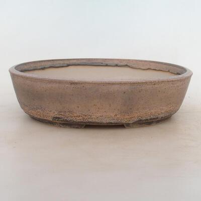 Bonsai-Schale 25,5 x 19 x 6,5 cm, grau-beige Farbe - 1