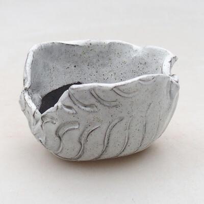 Keramikschale 7,5 x 7 x 5 cm, weiße Farbe - 1