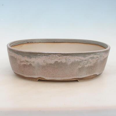 Bonsai-Schale 37 x 28 x 10,5 cm, grau-beige Farbe - 1