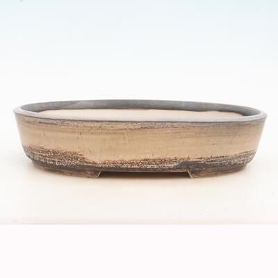 Bonsai-Schale 33 x 25 x 7 cm, grau-beige Farbe - 1
