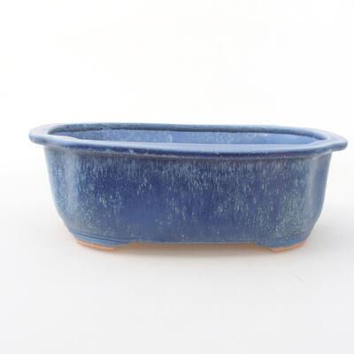 Keramische Bonsai-Schale 21 x 16,5 x 7 cm, Farbe blau - 1