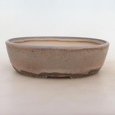 Bonsai-Schale 26 x 20 x 7,5 cm, grau-beige Farbe - 1