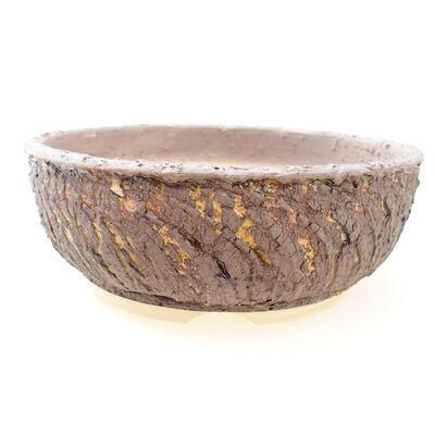 Bonsaischale aus Keramik 20 x 20 x 7 cm, Farbe Rissgelb - 1