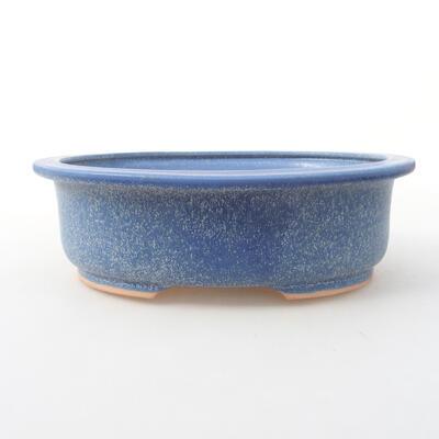 Keramische Bonsai-Schale 24 x 20 x 8 cm, Farbe blau - 1