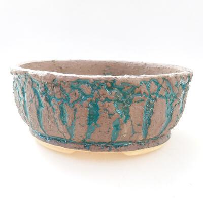 Bonsaischale aus Keramik 18 x 18 x 7,5 cm, Farbe grau-grün - 1