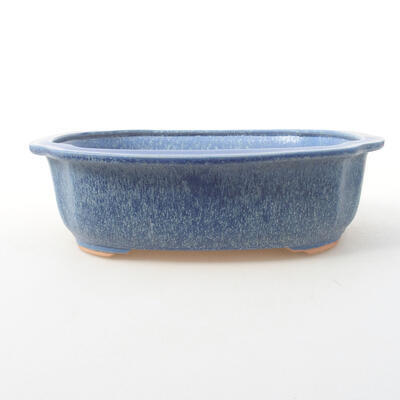 Keramische Bonsai-Schale 23 x 20 x 7 cm, Farbe blau - 1