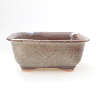 Bonsaischale aus Keramik 12 x 9 x 5,5 cm, braune Farbe - 1
