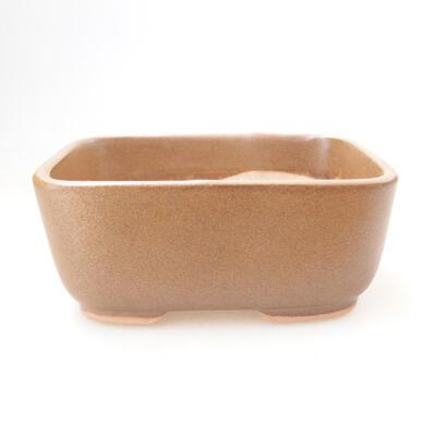 Bonsaischale aus Keramik 11,5 x 8,5 x 5 cm, braune Farbe - 1