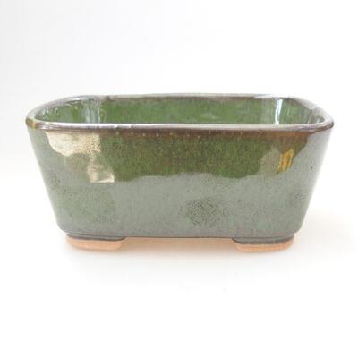 Bonsaischale aus Keramik 13 x 10 x 6 cm, Farbe grün - 1