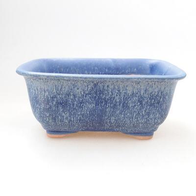 Bonsaischale aus Keramik 12,5 x 9,5 x 6 cm, Farbe blau - 1