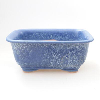 Bonsaischale aus Keramik 12 x 9 x 6 cm, Farbe blau - 1