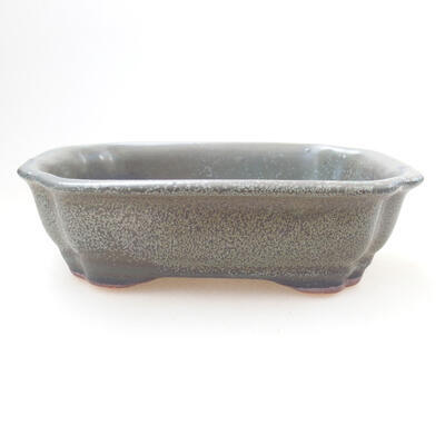Bonsaischale aus Keramik 14 x 11 x 4,5 cm, Farbe grün - 1