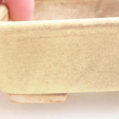Keramische Bonsai-Schale 9,5 x 8 x 3,5 cm, Farbe gelb - 1