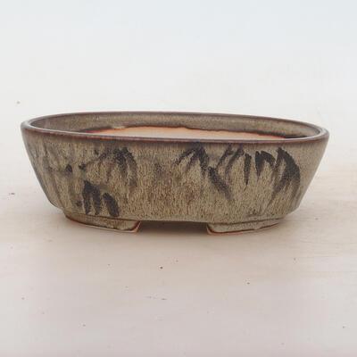 Bonsai-Schale 17 x 12 x 5 cm, Farbe braun-grau - 1