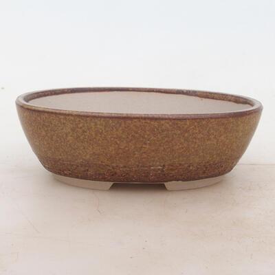 Bonsai-Schale 16 x 11 x 5 cm, Farbe braun - 1