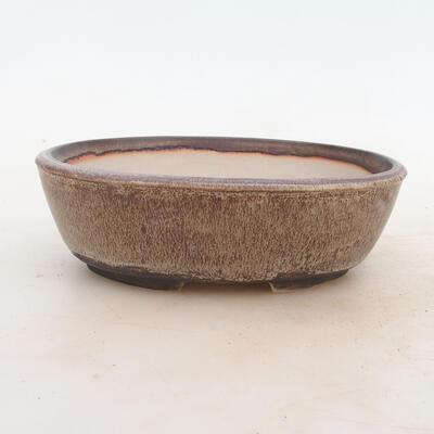 Bonsai-Schale 19 x 13,5 x 6 cm, Farbe braungrau - 1
