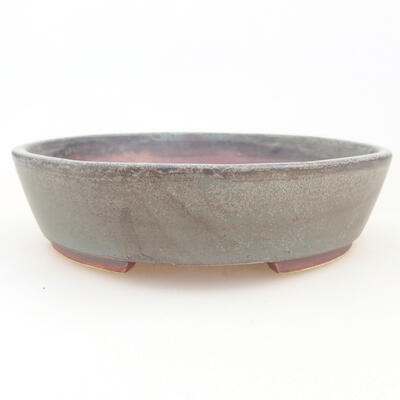 Keramische Bonsai-Schale 14 x 13 x 3,5 cm, graue Farbe - 1