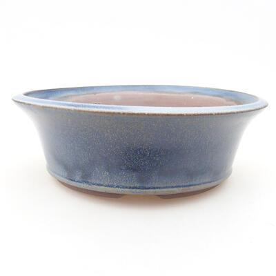 Keramische Bonsai-Schale 17 x 17 x 6 cm, Farbe blau - 1