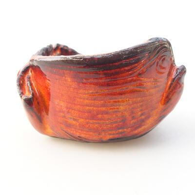 Keramikschale 7 x 7 x 5 cm, Farbe orange - 1