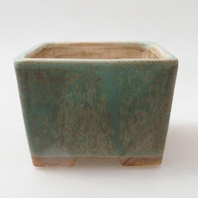 Keramische Bonsai-Schale 8 x 8 x 6 cm, Farbe grün - 1