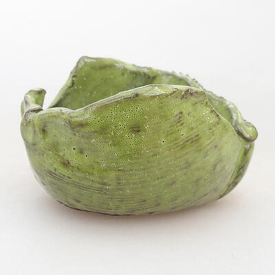 Keramikschale 7 x 7 x 5 cm, Farbe grün - 1