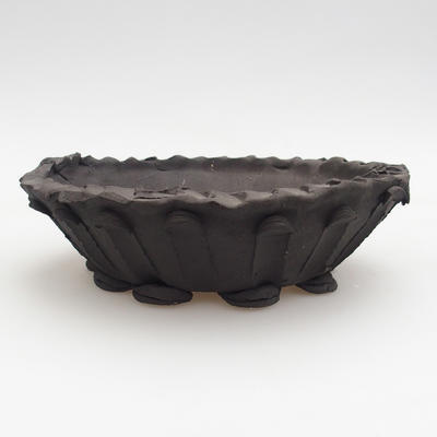 Keramik Bonsai Schüssel 18 x 18 x 5,5 cm, graue Farbe - 1