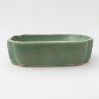 Keramik Bonsaischale 18 x 12,5 x 5 cm, Farbe grün - 1