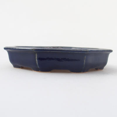 Keramik Bonsaischale 11,5 x 11,5 x 2 cm, Farbe blau - 1