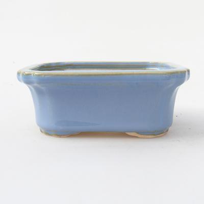 Keramik Bonsai Schüssel 10,5 x 8,5 x 4 cm, blaue Farbe - 1