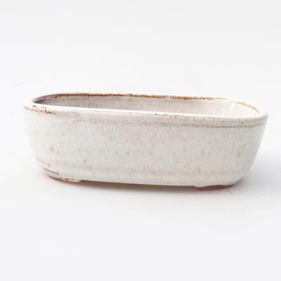 Keramik Bonsai Schüssel 12,5 x 8 x 3,5 cm, weiße Farbe - 1