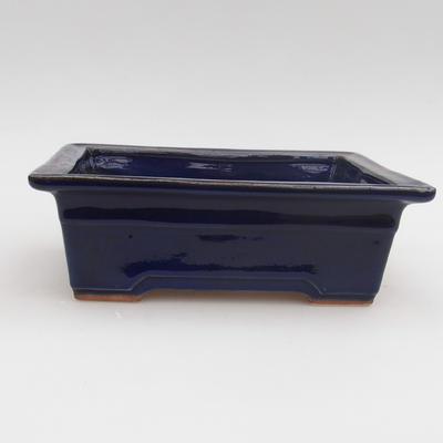 Keramik Bonsaischale 18 x 13 x 6 cm, Farbe blau - 1