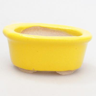 Mini Bonsai Schüssel 4,5 x 4 x 2 cm, gelbe Farbe - 1