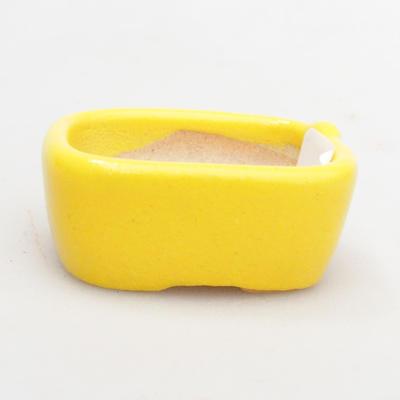 Mini Bonsai Schüssel 4 x 3,5 x 2 cm, gelbe Farbe - 1