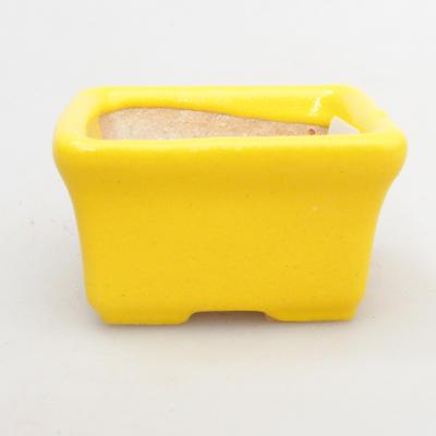 Mini Bonsai Schüssel 4,5 x 3,5 x 2,5 cm, gelbe Farbe - 1