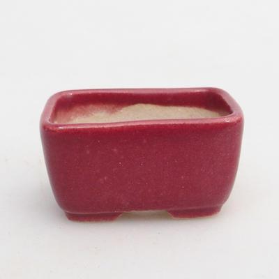 Mini-Bonsaischale 4,5 x 3 x 2 cm, Farbe rot - 1