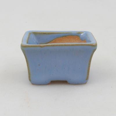 Mini-Bonsaischale 4 x 3 x 2,5 cm, Farbe blau - 1