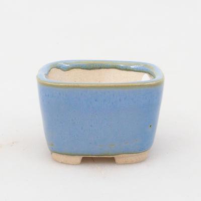 Mini-Bonsaischale 3,5 x 3,5 x 2,5 cm, Farbe blau - 1