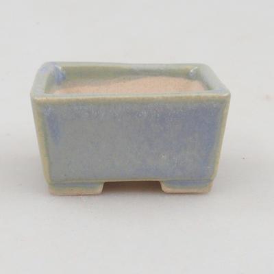 Mini-Bonsaischale 4 x 3,5 x 2 cm, Farbe blau - 1