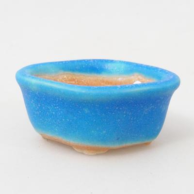 Mini Bonsai Schüssel 5 x 4 x 2 cm, Farbe blau - 1