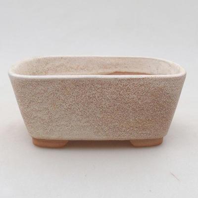 Keramische Bonsai-Schale 13 x 10 x 5,5 cm, beige Farbe - 1