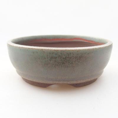 Keramische Bonsai-Schale 9 x 9 x 3 cm, Farbe grün - 1