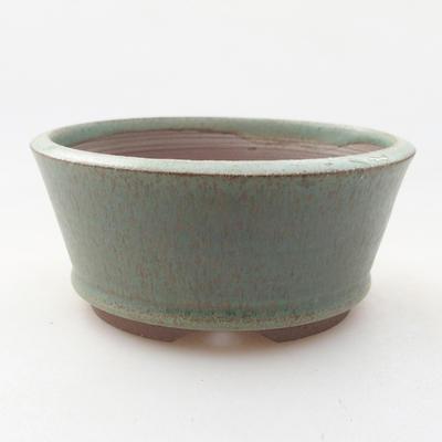 Keramische Bonsai-Schale 9 x 9 x 4 cm, Farbe grün - 1