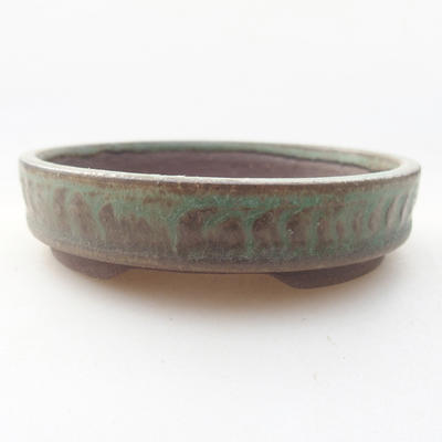 Keramische Bonsai-Schale 9 x 9 x 2 cm, Farbe grün - 1