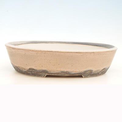 Bonsai-Schale 43 x 35 x 10,5 cm, grau-beige Farbe - 1