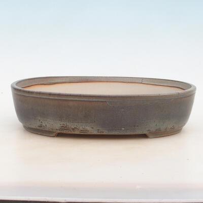 Bonsai-Schale 30,5 x 22,5 x 7,5 cm, graue Farbe - 1